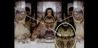 Devil in Disguise - Baphomet, Covering Heart of Jesus In Last Supper Da Vinci Mirror Code
