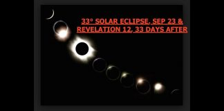 8/21 Eclipse Path, 33rd State, Ends 33rd°, Sep 23 & Rev 12, 33 Days Later