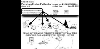 Ford Patent for Autonomous Police Car, Takes Control of Vehicle & Gives You Tickets